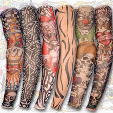 6 шт. мужские и женские солнцезащитные очки для рук, накладные татуировки на руку, рукава с УФ-защитой, крутые рукава, манжеты, спортивные эластичные чулки, гетры для рук 2