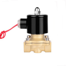 Free Shipping 2018 New 1/4,1/8,1/2,3/4,1,2, AC220V,DC12V/24V Electric Solenoid Valve Pneumatic for Water Oil Air NC