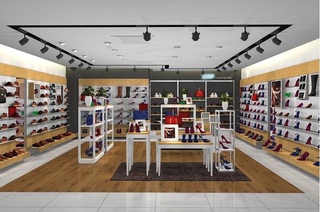 Popolare Scarpe negozio display negozio di mobili mdf vetrina panno negozio  RO62