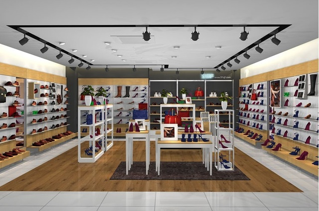 Shoes Store Display Furniture Shop MDF Showcase Cloth Store Display Cabinet  Bag Shop Display Shelf Store