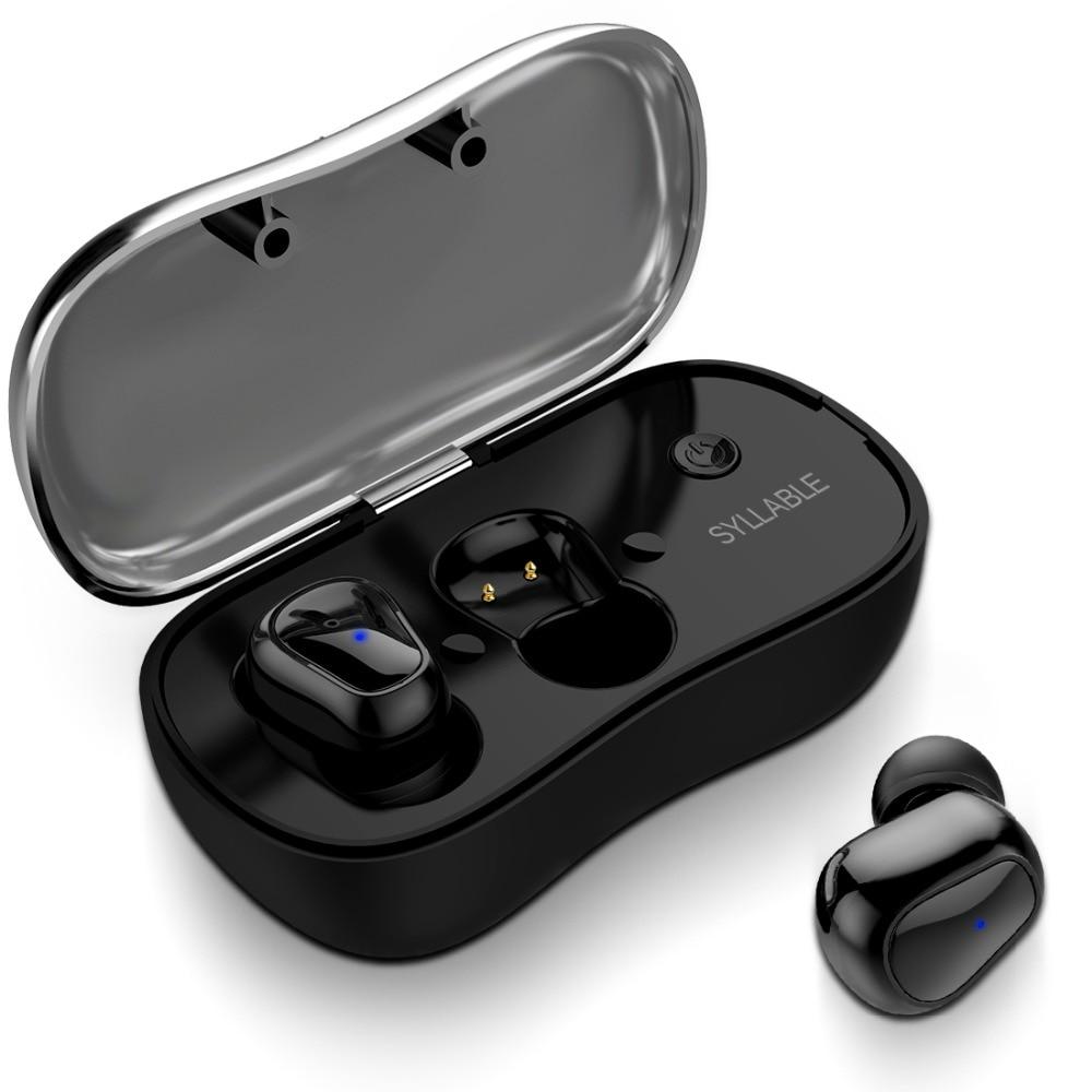 SYLLABE D900P TWS Mini Bluetooth Écouteur avec Mic Sans Fil Bluetooth V5.0 Casque Musique Le Bruit des Écouteurs Annulation pour Android IOS