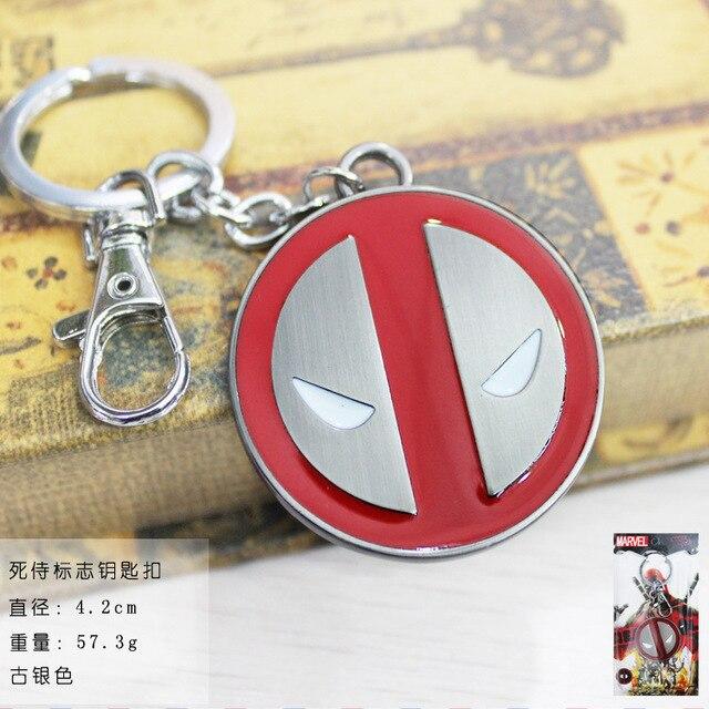 Deadpool Logo Marvel Comics Alloy Keychain 2 Colour New Styles  Metal Keychain Anime Cartoon Jewelry