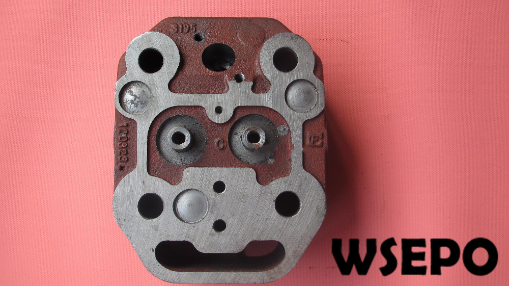 OEM Quality! Cast Iron Bare Cylinder Head (With Seat and Guide) Blunt Type for S195 4 Stroke Small Water Cooled Diesel Engine oem quality cylinder head comp for zh1115 4 stroke small water cooled diesel engine