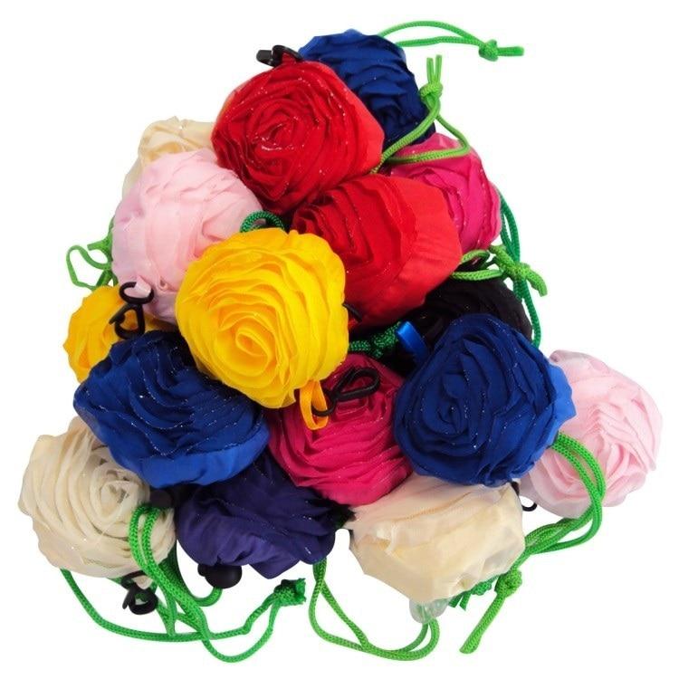 3d Fiore Della Rosa Shopping Bags Tote Riutilizzabile Portatile Pieghevole Sacchetto Del Pranzo Della Borsa Sacchetto Del Regalo Del Partito W8499 Forma Elegante