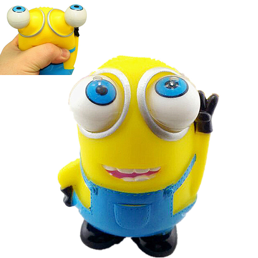 1PCS Funny Cartoon Animal Small Squeeze Antistress Toy Decompression Toy Stress Relief Venting Joking Pop Out Eyes Doll
