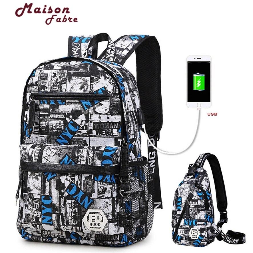 USB charging 15.6 inch laptop backpack for boy schoolbag men black Backpack male high school backpack boys school bags 925 #30