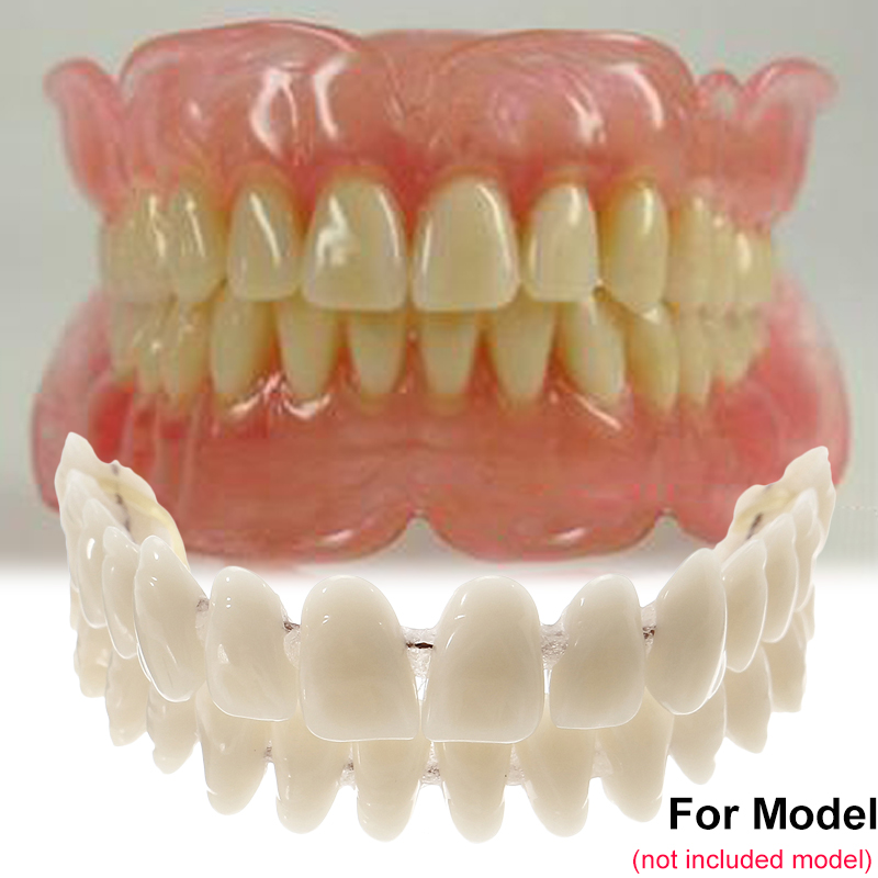10set/box 28pcs/set Resin Teeth Denture Upper Lower Shade A2 Manufactured Artificial Preformed Dentition Oral Care Material Tool