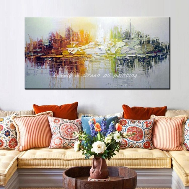 Hand Painted Canvas Oil Paintings Modern Abstract Oil Painting On Canvas Wall Art Pictures For Living Room Hotel Decor Best Gift