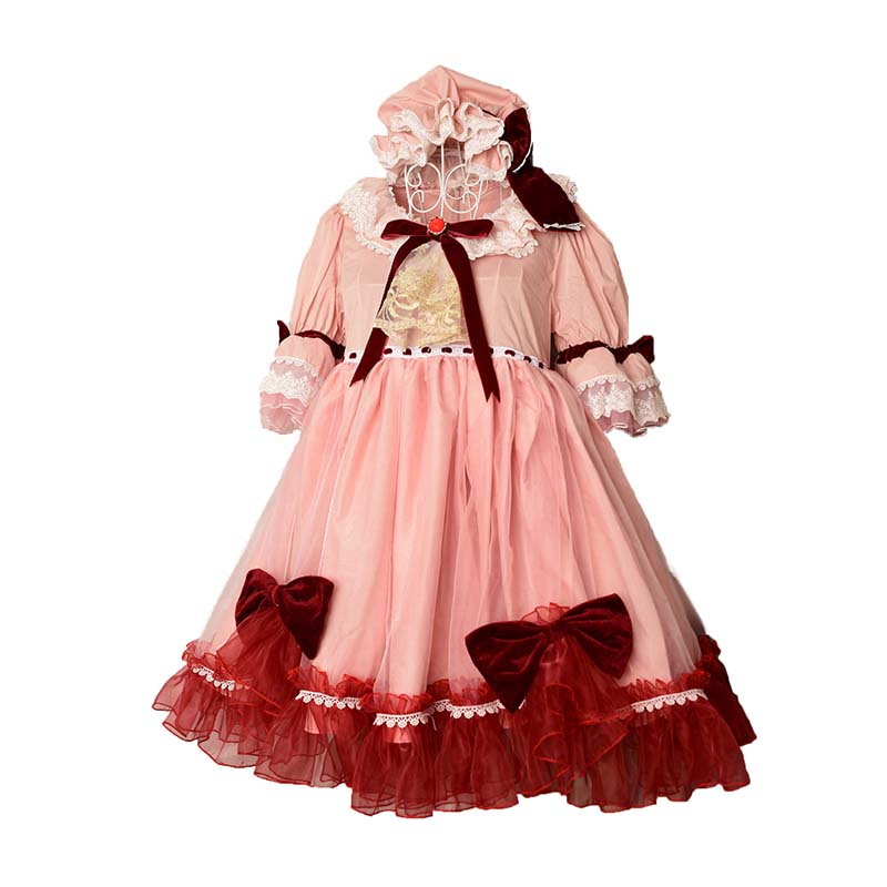 Touhou Project Cosplay Remilia Scarlet Costume dress+hat