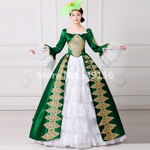 Vintage Victorian Southern Belle Green Dress Marie Antoinette Princess Masquerade Costume  sc 1 st  AliExpress.com & Vintage Victorian Southern Belle Green Dress Marie Antoinette ...