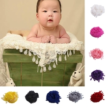 Embroidery Lace Newborn Baby Tassel Backdrop Wrap Blanket Kids Photography Props-P101