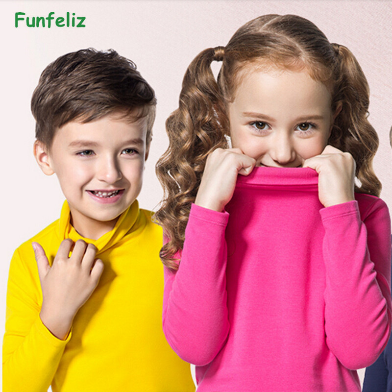 Autumn Winter Turleneck Children Sweater 10 Solid Colors Girls Sweater Boys Pullover SweatShirt Child Cardigans for girls 2-10T