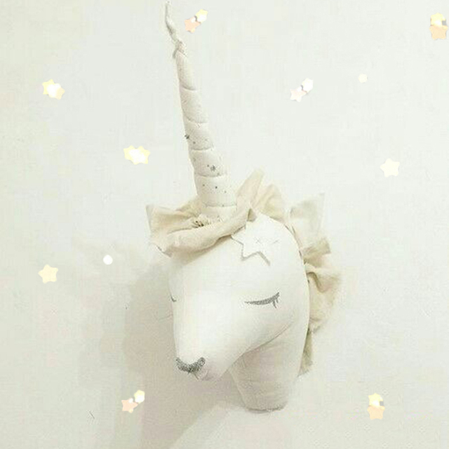 Aliexpress.com : Buy Nordic Unicorn Stuffed Toys Animal Head Wall ...
