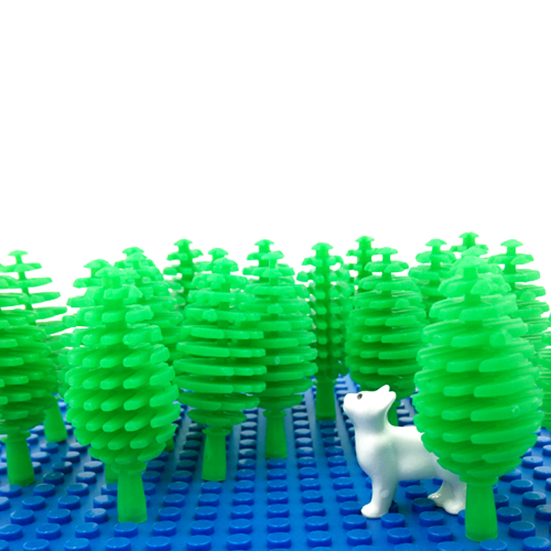 Bush Trees Mini City Street Block Parts DIY Block Brick MOC Parts Building Blocks Compatible with Legoe Assemble Particles 30Pcs