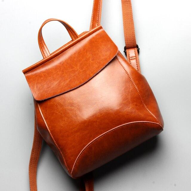 Brand Designer Vintage Genuine Leather Women Backpack School Backpack For  Girls Fashion Women Bags Best Gift bagpack ee2c8782ab864