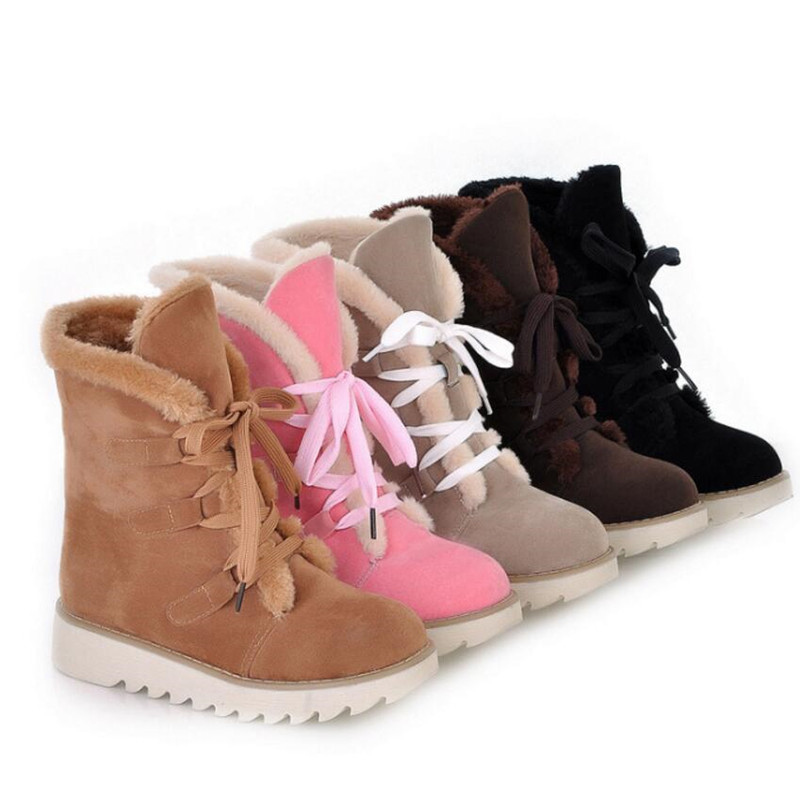 Women's Snow Boots Thick Wool Warm With Cotton Shoes Plus Size Women's Boots Ladies Fashion Casual Shoes winter Casual Sneaker 75