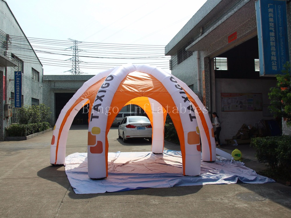 durable inflatable advertising tent portable inflatable canopy tent 5m toy tent BG A1082