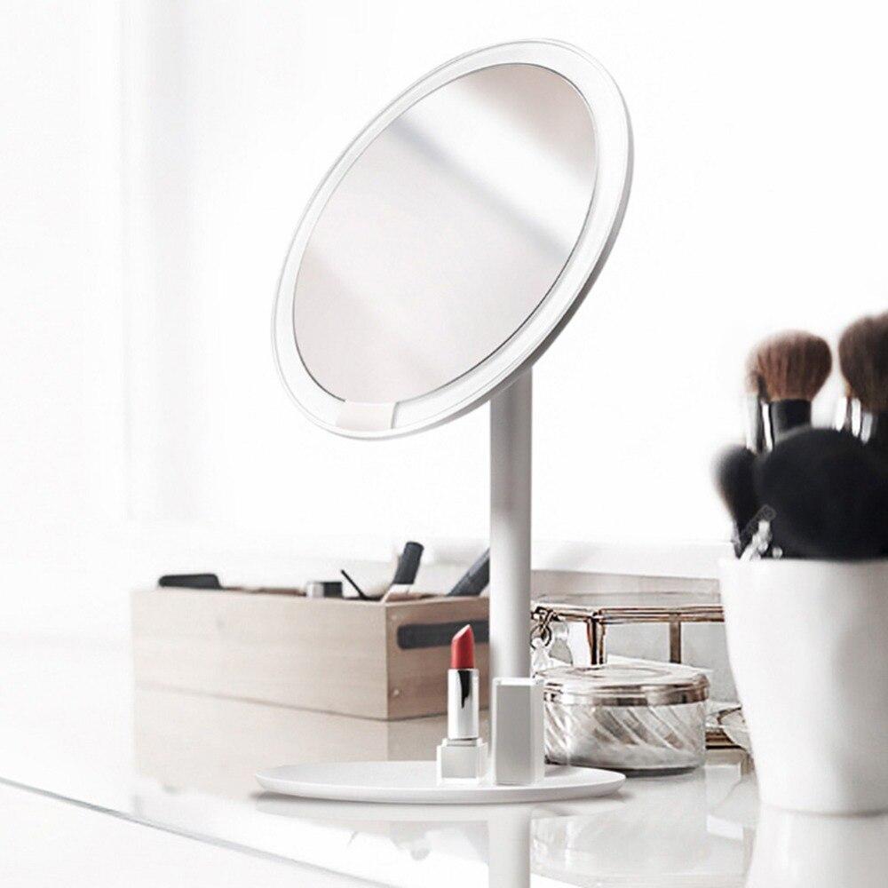Güzellik ve Sağlık'ten Makyaj Aynaları'de Xiaomi AMIRO AML004 makyaj aynası Şarj Edilebilir Parlaklık Ayarlanabilir LED HD Makyaj Günışığı Ayna Mijia makyaj aynası Kozmetik'da  Grup 1