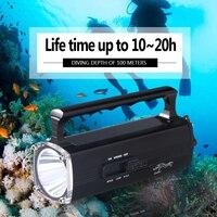 100 m ánh sáng Dưới Nước mạnh mẽ led đèn pin lặn torch cree xm-l2 đèn pin charg lanterna de mergulho không thấm nước zaklamp