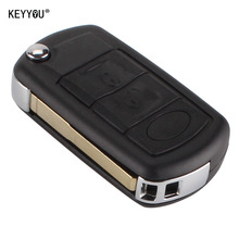 KEYYOU Замена Shell Складной Флип Удаленный Случае Ключ Fob 3 кнопка для LAND ROVER Range Rover Sport LR3 Discovery С ЛОГОТИП