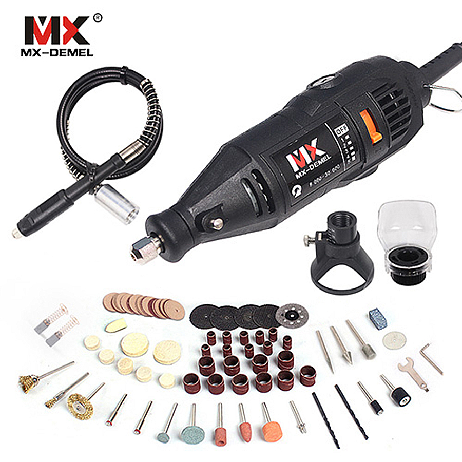 MX-DEMEL Mini Drill Dremel Style Electric Rotary Tools Engrave Grinder Variable Speed With Shaft&Bag&92pcs Accessories DIY Kits electric dremel mini grinder diy hand drill machine power tool with dremel accessories soft shaft variable rotary engrave