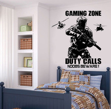 YOYOYU Gaming Zone Vinyl Wall Sticker Removeable Decal Bedroom Salon wall Decor For Kids Room poster ZX089