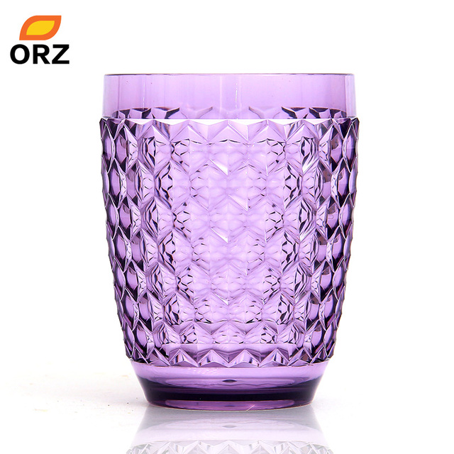 ORZ Acrylic Bathroom Tumbler Cup Home Fashions Tooth Mug Tooth Brush Holder  Normal Temperature Water Cup