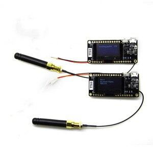 Image 1 - LILYGO® 2Pcs TTGO LORA32 V2.0 868/433Mhz ESP32 LoRa 0.96 Inch SD Card  Bluetooth WIFI ESP32 ESP 32 Module With Antenna