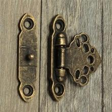 Gran calidad 12X antiguo estilo antiguo y vintage decorar latón decorativo joyería regalo caja de madera cierre gancho con tornillos