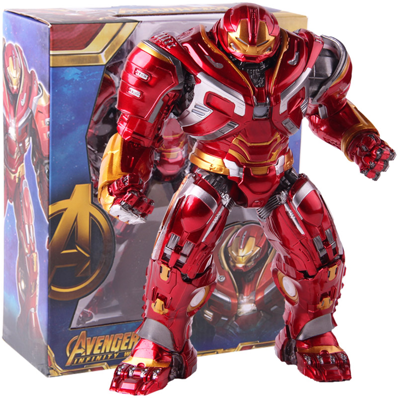 Marvel Avengers Infinity War Mark44 Hulkbuster Hulk Buster Action Figure PVC Collectible Model Toy with LED