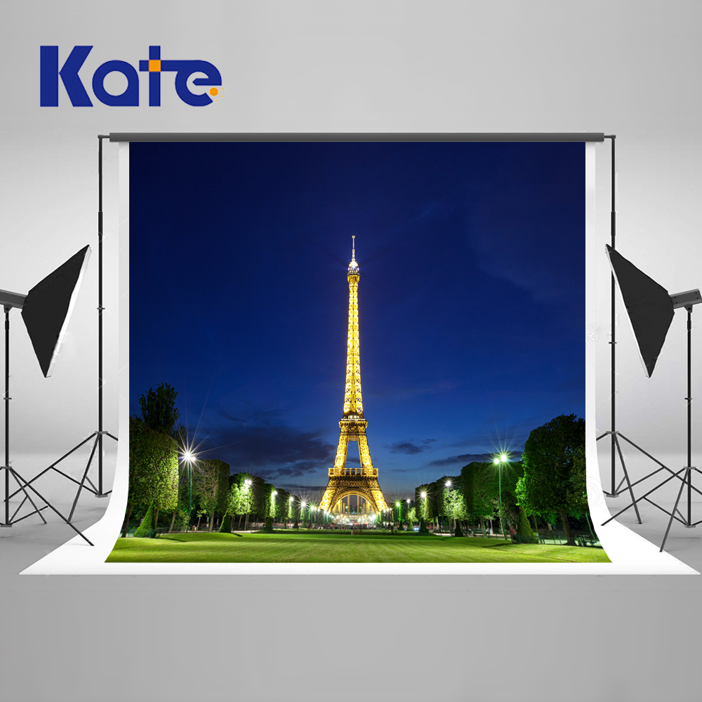 5x7FT Kate Eiffel Tower Photography Backdrops Custom Made Night City Party Backdrop Photography Wedding Scenic Backdrops