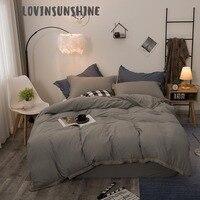 LOVINSUNSHINE Beddings And Bed Sets Comforter Bedding Sets King Solid Color Duvet AB#128