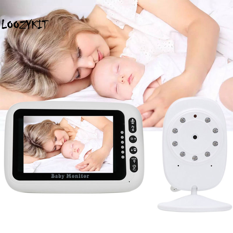 Loozykit 4 3 Inch Wireless Video Baby Monitor High Resolution Digital Sleep Monitoring 2Way Talk Night