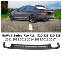 For BMW 5 Series F10 F18 520 525 530 535 2011 2017 Carbon Fiber Rear Lip Spoiler High Quality Bumper Diffuser Auto Accessories