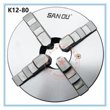 цена на RU Warehouse Sanou K12-80 3 Inch 4 Four Jaw 80mm Lathe Chuck Cartridge with Self-Centering Machine Tools Accessories for Lathe