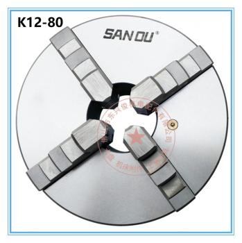 Sanou K12-80 3 Inch 4 Four Jaw 80mm Lathe Chuck Cartridge with Self-Centering Machine Tools Accessories for Lathe lathe chuck k12 125 four jaws self centering chucks 125mm for machines tools lathe chuck manual