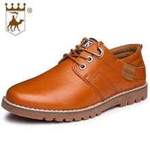 Mens British Style Casual Shoes High Quality Lace Up Oxfords Men Flats Genuine Leather Brand Soft Male Shoes AA20539