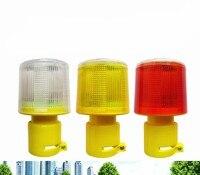 4LED Solar Powered Traffic Warning Light White Yellow Red LED Solar Safety Signal Beacon Alarm Lamp