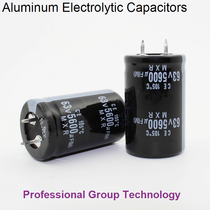 12pcs R300 Good quality 63v5600uf Radial DIP Aluminum Electrolytic Capacitors 63v 5600uf ...
