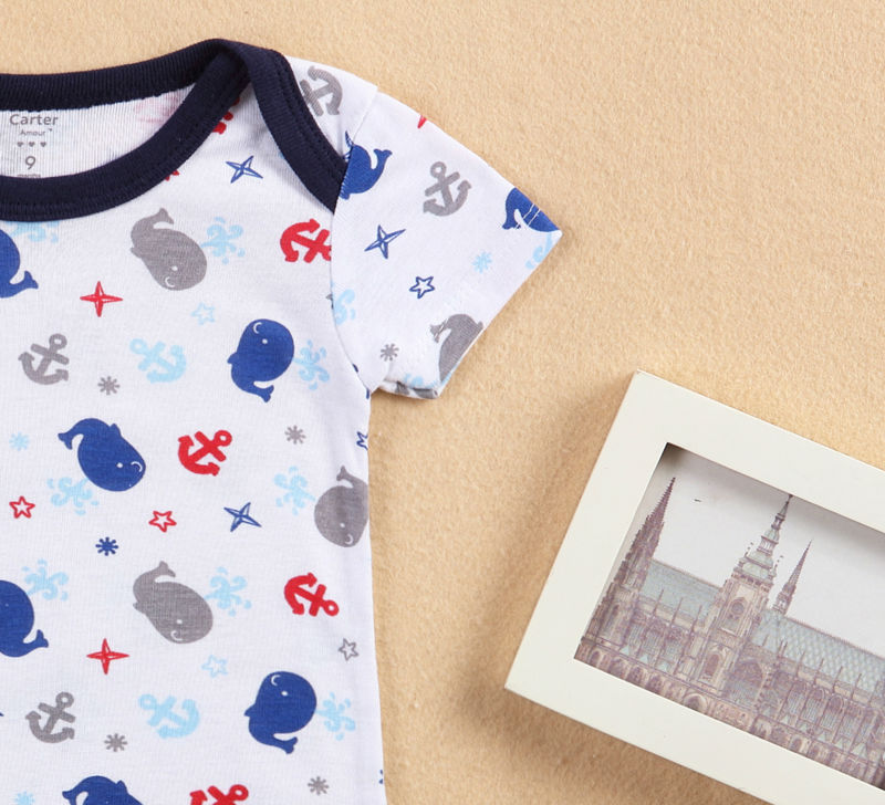 2018 New tender Babies Boy Rompers Baby Clothing Summer Cotton Baby Boy Short Sleeve Car Printed Jumpsuit Newborn Baby Clothes in Bodysuits from Mother Kids
