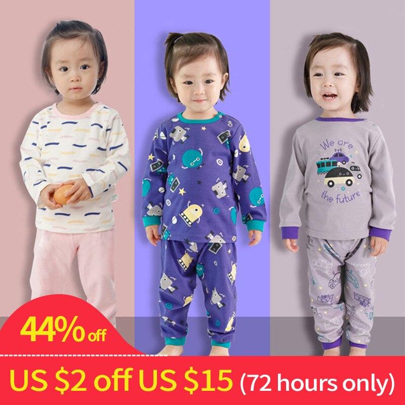 Baby Girl Clothes Set Boy Pajamas Sets Newborn Baby Boy Clothing Set Baby Sleepwear Girls Kids Cotton Pajamas Children's Pajamas v neck lace detail pajamas in pajamas set in blue
