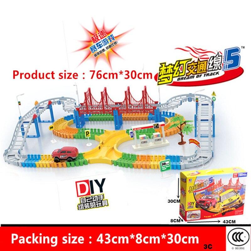 Haute qualité 1 Set assemblage piste jouet voiture multicouche piste voiture garçon électrique rail voiture train jouet pour cadeau d'anniversaire enfants jouets