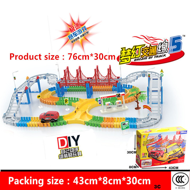 High-quality 1 Set assembly track toy car multilayer track car boy Electric rail car rail train toy for birthday gift Kids Toys