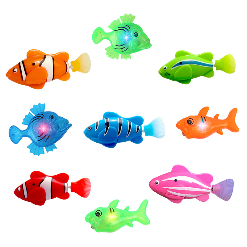 Bathing Fish Toy Electric Induction Simulation Machine Fish Baby Bath Water Toy Luminous Novelty Popular Toys To Child Gift New