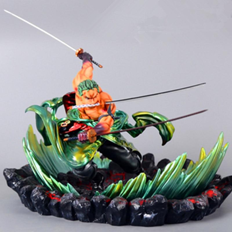 24 cm une pièce Roronoa Zoro Statue trois mille monde bataille ver Figure jouet PVC nouvelle Collection figurine Action jouets cadeau
