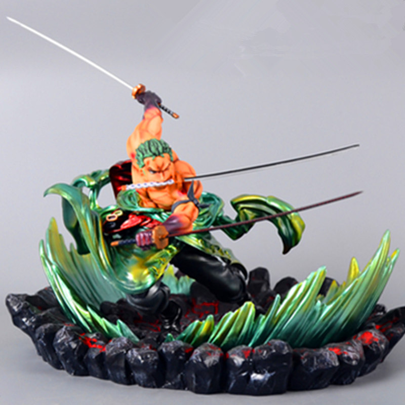 24cm One Piece Roronoa Zoro Statue Three thousand world battle ver Figure Toy PVC New Collection Action Figure Toys Gift