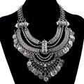 2017 turquía joyería de moda collar declaración choker collar de la moneda de la vendimia maxi collier multi capa collar joyería de las mujeres