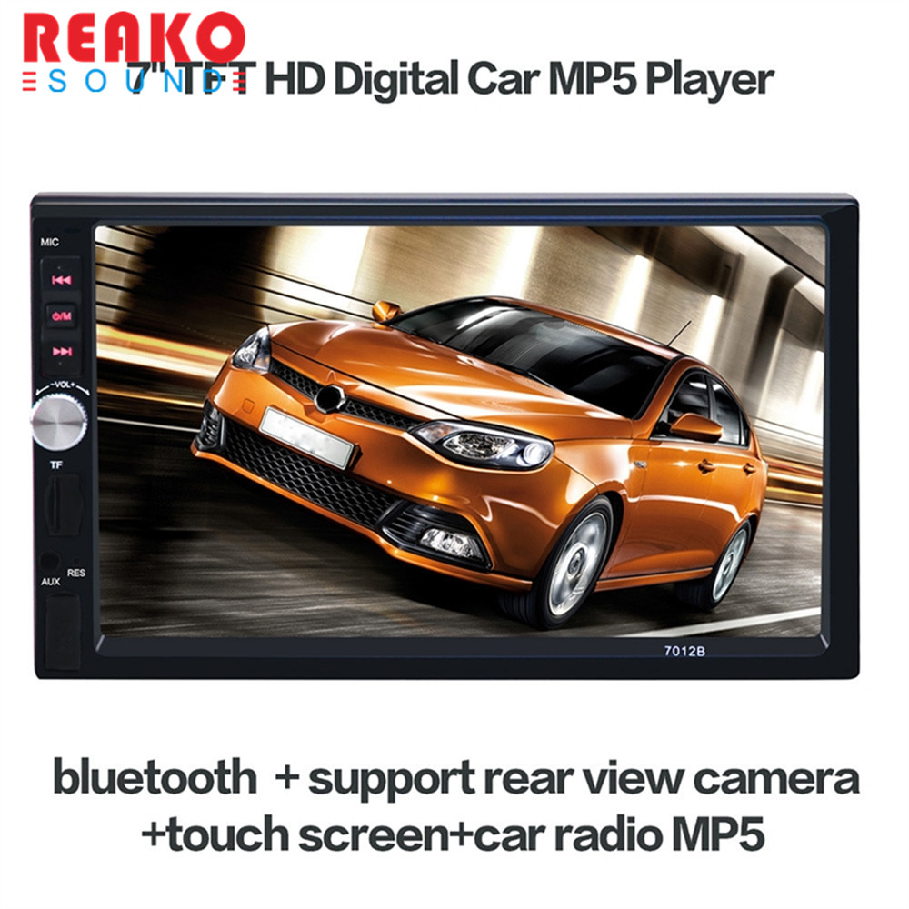 REAKOSOUND Vehicle Audio DVD Player 7012B 7 inch HD 1080P Touchscreen Bluetooth Double-DIN MP5/MP4 Player Car Receiver+ E306 invicta часы invicta in18512 коллекция force