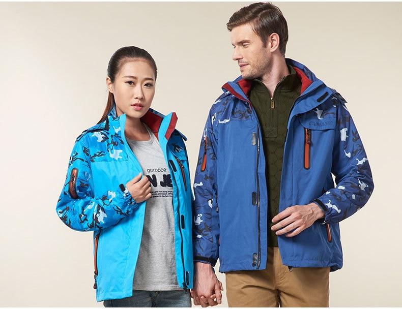 2015 New style Winter 3in1 Warm Men's Skiing Jackets Outdoor Ski Snow Coats Men & Women Camping Hiking Windbreaker Jacket 3 in 1 men hiking jackets outdoor windbreaker winter man warm coats polar fleece lining 2 in 1 trekking mountain camping jacket
