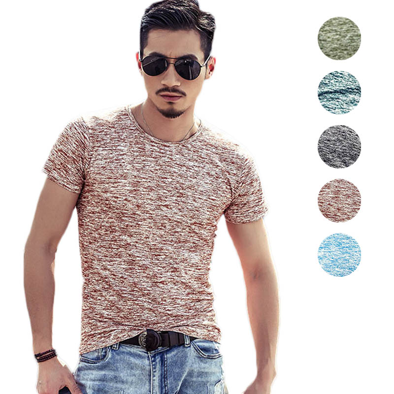Men Summer Short Sleeve T-Shirt O-Neck Breathable Tops Fitness Casual Slim Fit Tee -MX8
